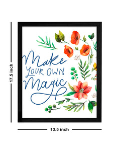 Make Your Own Magic Theme Framed Art Print, For Wall Decor Size - 13.5 x 17.5 Inch