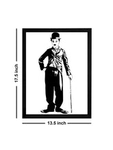 Load image into Gallery viewer, Charlie Chaplin Theme Framed Art Print, For Home & Office Decor Size - 13.5 x 17.5 Inch