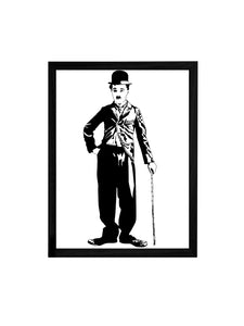 Charlie Chaplin Theme Framed Art Print, For Home & Office Decor Size - 13.5 x 17.5 Inch