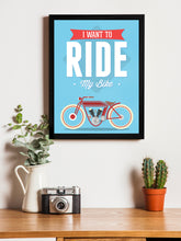 Load image into Gallery viewer, Ride My Bike Theme Framed Art Print, For Wall Decor Size - 13.5 x 17.5 Inch