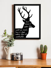 Load image into Gallery viewer, Beautiful Swamp Deer (Barasingha) Theme Framed Art Print, For Wall Decor Size - 13.5 x 17.5 Inch