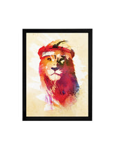 Load image into Gallery viewer, Beautiful Lion Theme Framed Art Print, For Wall Decor Size - 13.5 x 17.5 Inch