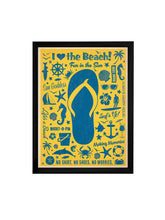 Load image into Gallery viewer, I love The Beach Theme Framed Art Print, For Wall Decor Size - 13.5 x 17.5 Inch