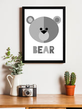 Load image into Gallery viewer, Beautiful Cartoon Bear Theme Framed Art Print, For Wall Decor Size - 13.5 x 17.5 Inch