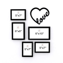 Load image into Gallery viewer, Art Street Set of 5 Valentine Themed Ready to Hang Photo Frames for Home Décor and Wall Art Hanging Accessories
