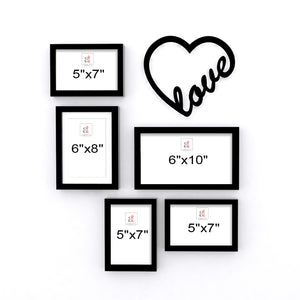 Art Street Set of 5 Valentine Themed Ready to Hang Photo Frames for Home Décor and Wall Art Hanging Accessories