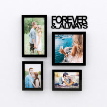 Load image into Gallery viewer, Art Street Always & Forever Valentine Themed Ready to Hang Photo Frames for Home Décor and Wall Art Hanging Accessories Set of 4