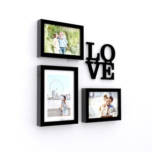 Art Street Set of 3 Valentine Themed Ready to Hang Photo Frames for Home Décor and Wall Art Hanging Accessories