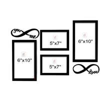 Load image into Gallery viewer, Art Street You&Me Valentine Themed Ready to Hang Photo Frames for Home Décor and Wall Art Hanging Accessories Set of 4