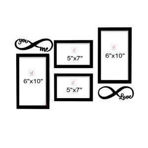 Art Street You&Me Valentine Themed Ready to Hang Photo Frames for Home Décor and Wall Art Hanging Accessories Set of 4