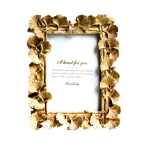Load image into Gallery viewer, Golden Hibiscus Flower Shape Table Photo Frame For Home Decor