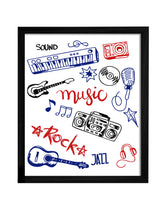 Load image into Gallery viewer, Music Theme Framed Art Print, For Wall Decor Size - 13.5 x 17.5 Inch