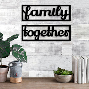 Art Street Family Together MDF Plaque Painted Cutout Ready to Hang Home Décor, Wall Décor, Wall Art …