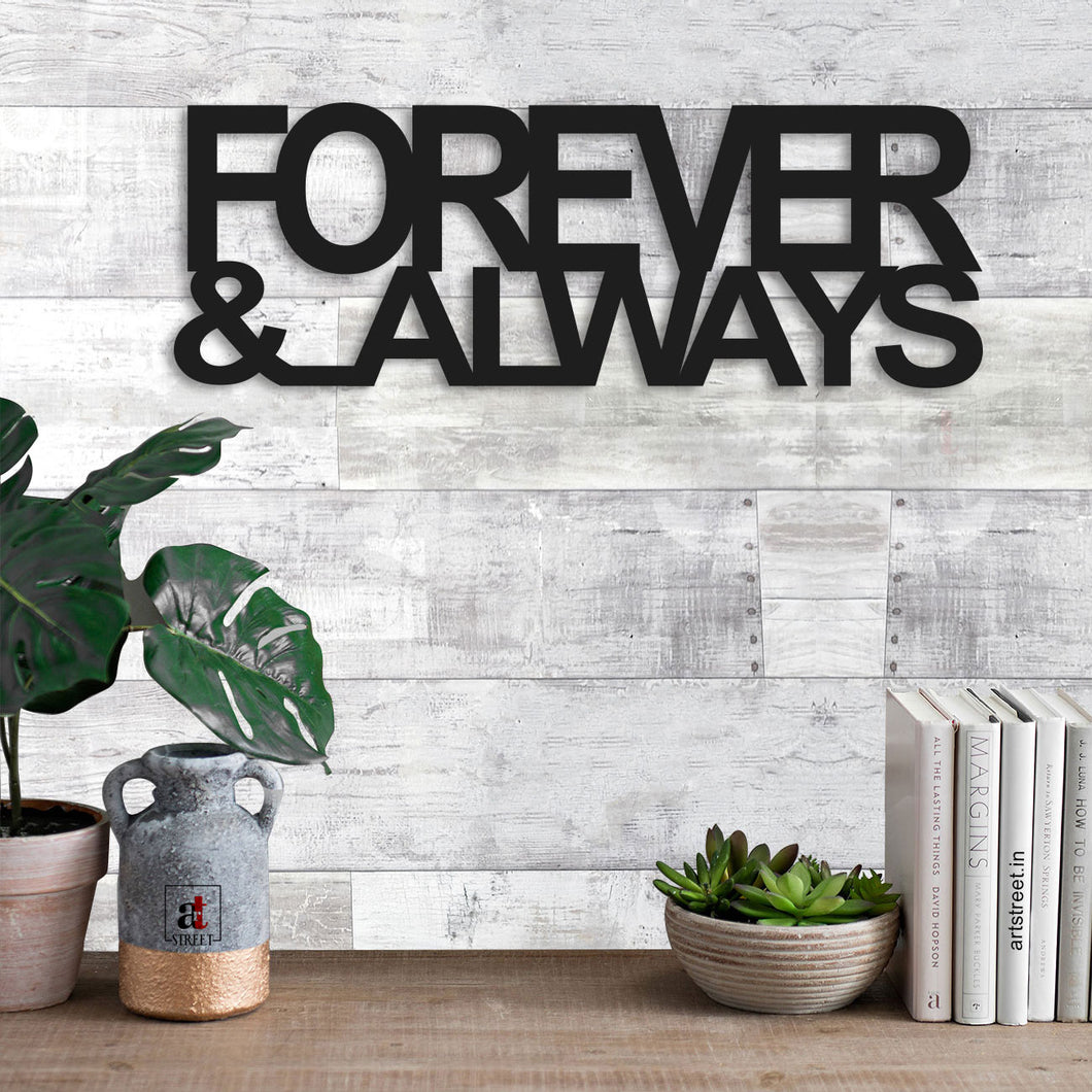 Art Street Forever & Always MDF Plaque Painted Cutout Ready to Hang Home Décor, Wall Décor, Wall Art …