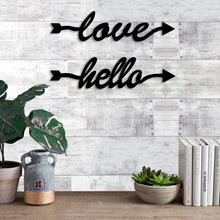 Load image into Gallery viewer, Art Street Love Hello MDF Plaque Painted Cutout Ready to Hang Home Décor, Wall Décor, Wall Art