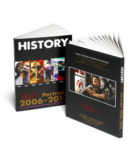 'HISTORY: NEATE PORTRAITS from 2006-2013' book of postcards