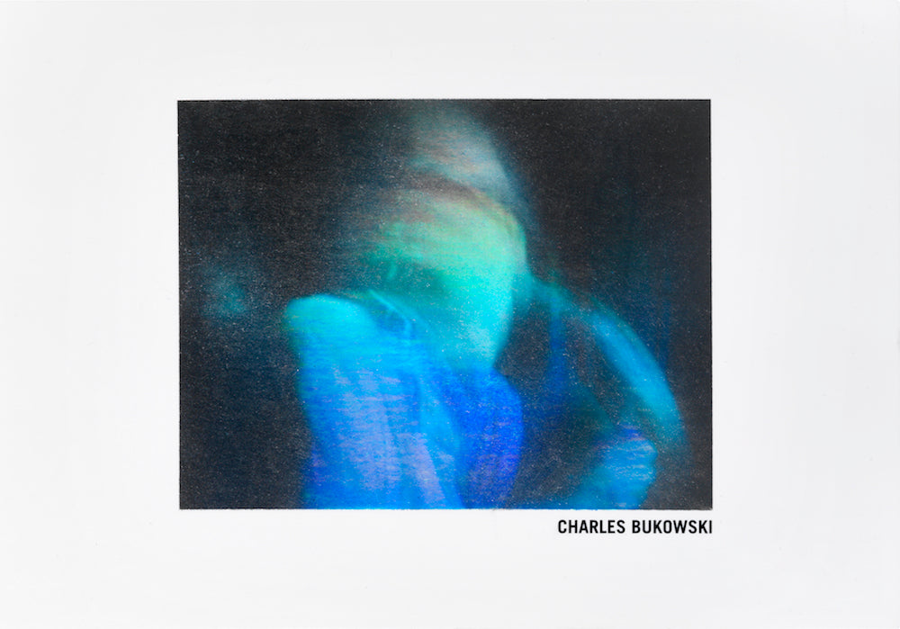 CHARLES BUKOWSKI limited edition holographic card for sale from ELMS LESTERS