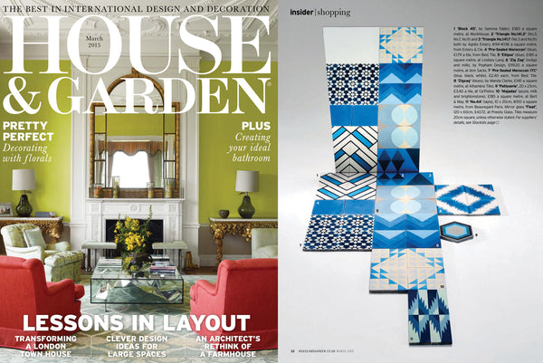 House & Garden feature on cement tiles