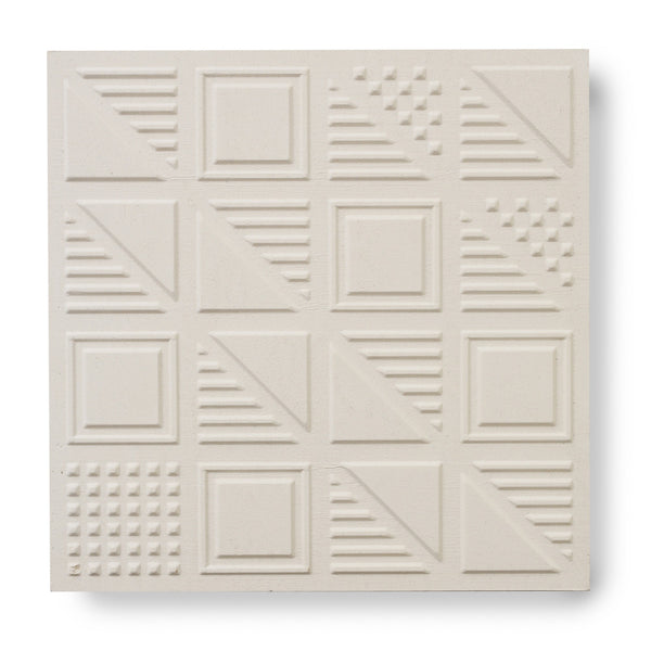 'London Chevron' White - 3D Cement Tile (sample)