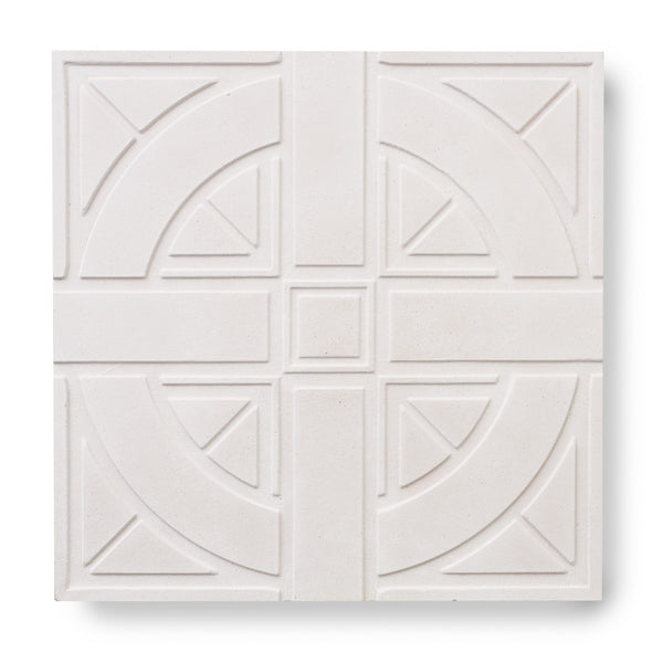 'London Roundel' White - 3D Cement Tile (sample)