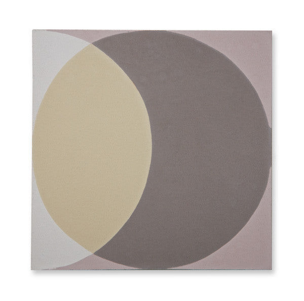 'Ellipse' grey encaustic
