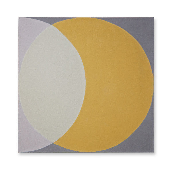 'Ellipse' yellow encaustic