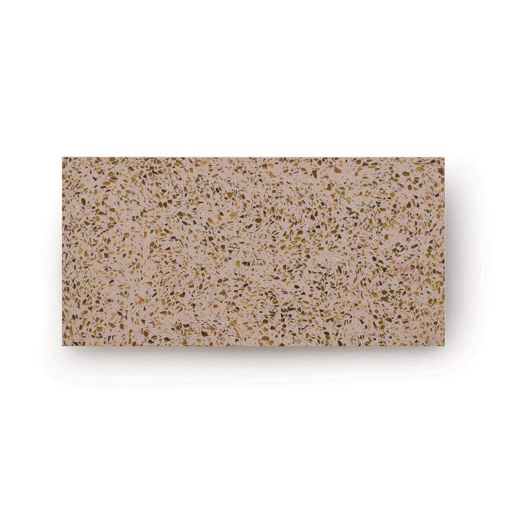 Nougat | Rectangle - Terrazzo Tile (sample)
