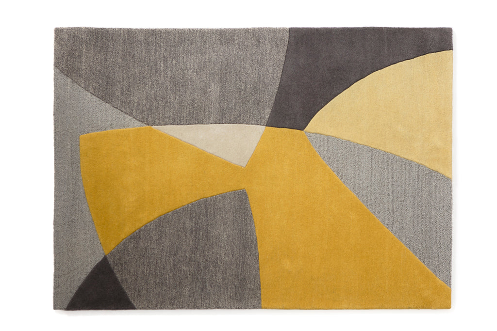 Scatter wool rug in yellow