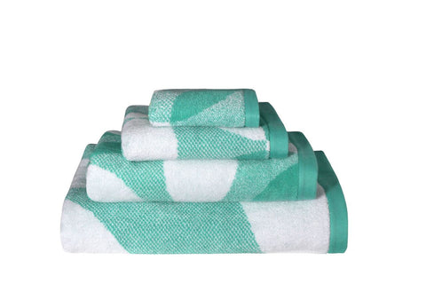 Leaf Bath Linen in Mint