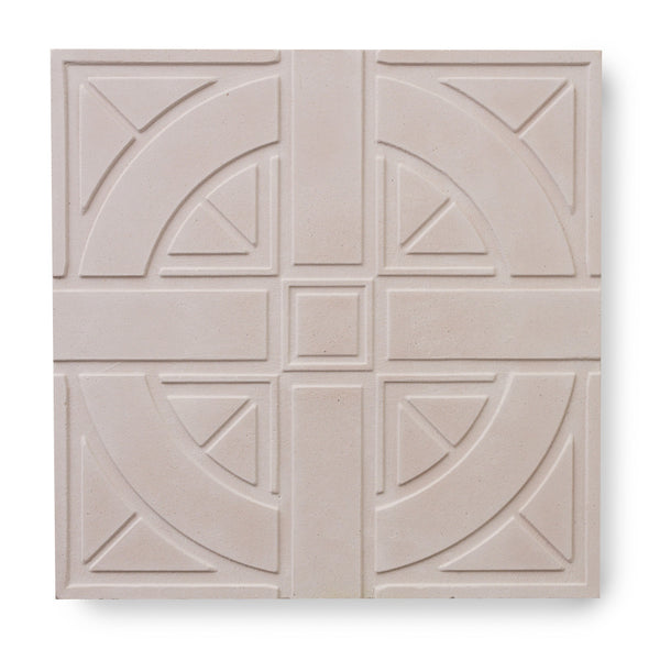 'London Roundel' Beige Pink - 3D Cement Tile (sample)
