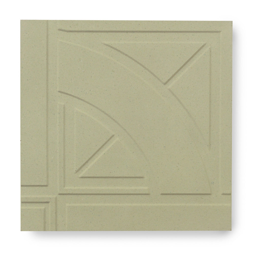 'Quarter Roundel' Mint - 3D Cement Tile (sample)