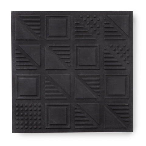 'London Chevron' Soft Black - 3D Cement Tile (sample)
