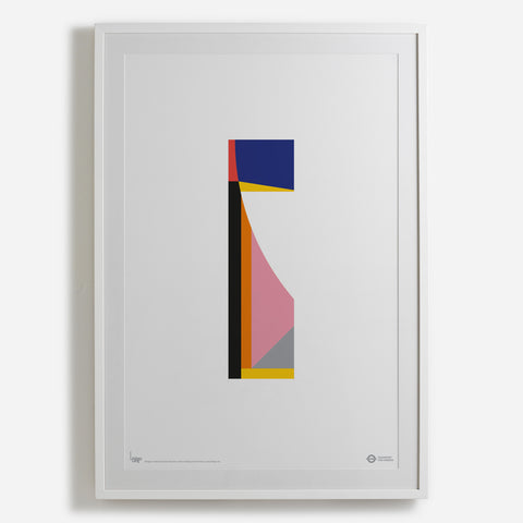 'Flash' white framed print