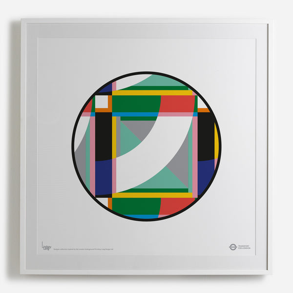 'London Roundel' white framed print