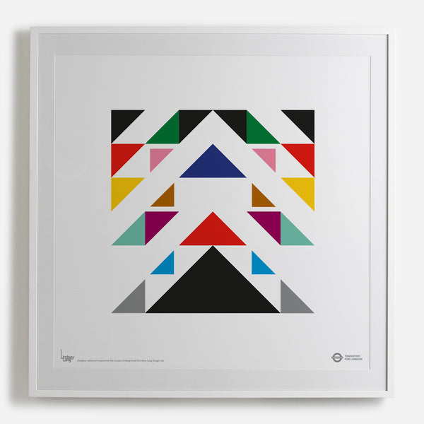 'London Chevron' white framed print