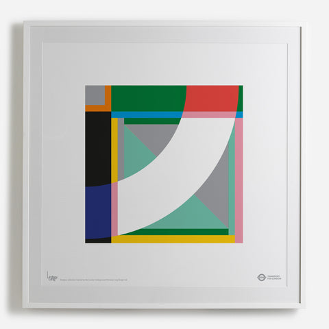 'Greenlight' white framed print