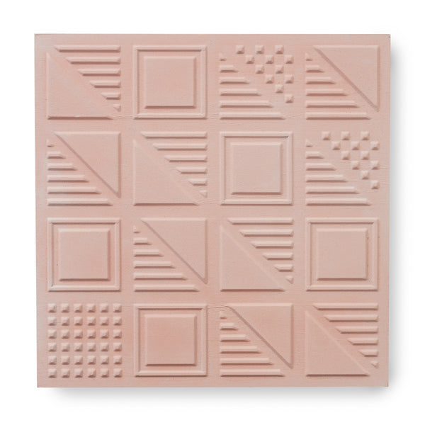 'London Chevron' Blush - 3D Cement Tile (sample)