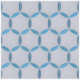 'Hex' blue luxury patterned tile