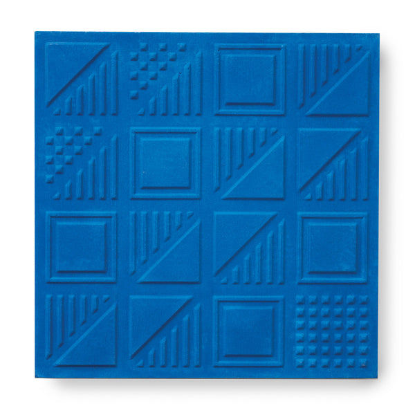 'London Chevron' Cobalt - 3D Cement Tile (sample)