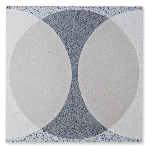 'Double Ellipse' light grey granito