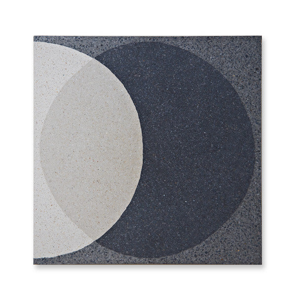 'Ellipse' Dark Grey - Terrazzo Tile (sample)