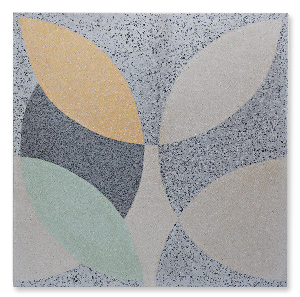 'leaf' pale yellow/mint granito