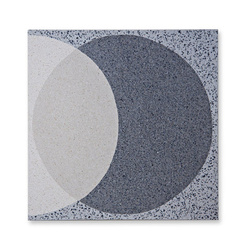 'Ellipse' Light Grey - Terrazzo Tile (sample)
