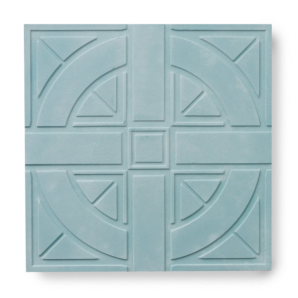 'London Roundel' Teal - 3D Cement Tile (sample)