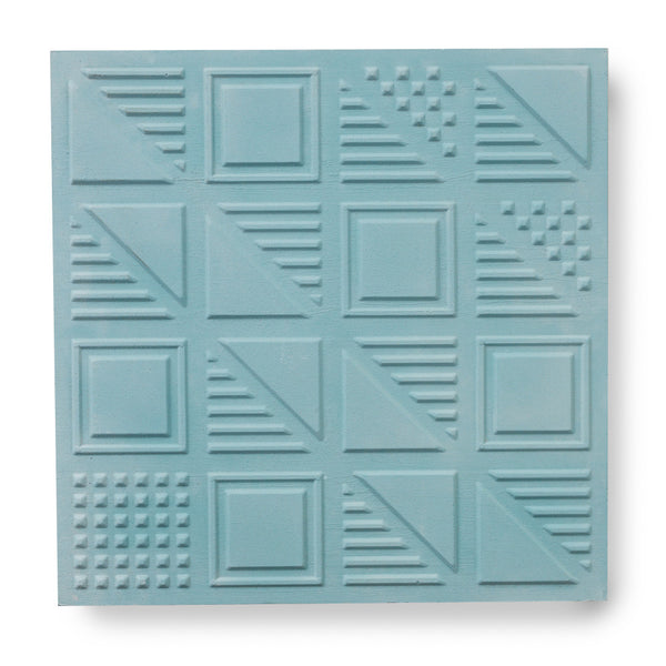 'London Chevron' Teal - 3D Cement Tile (sample)