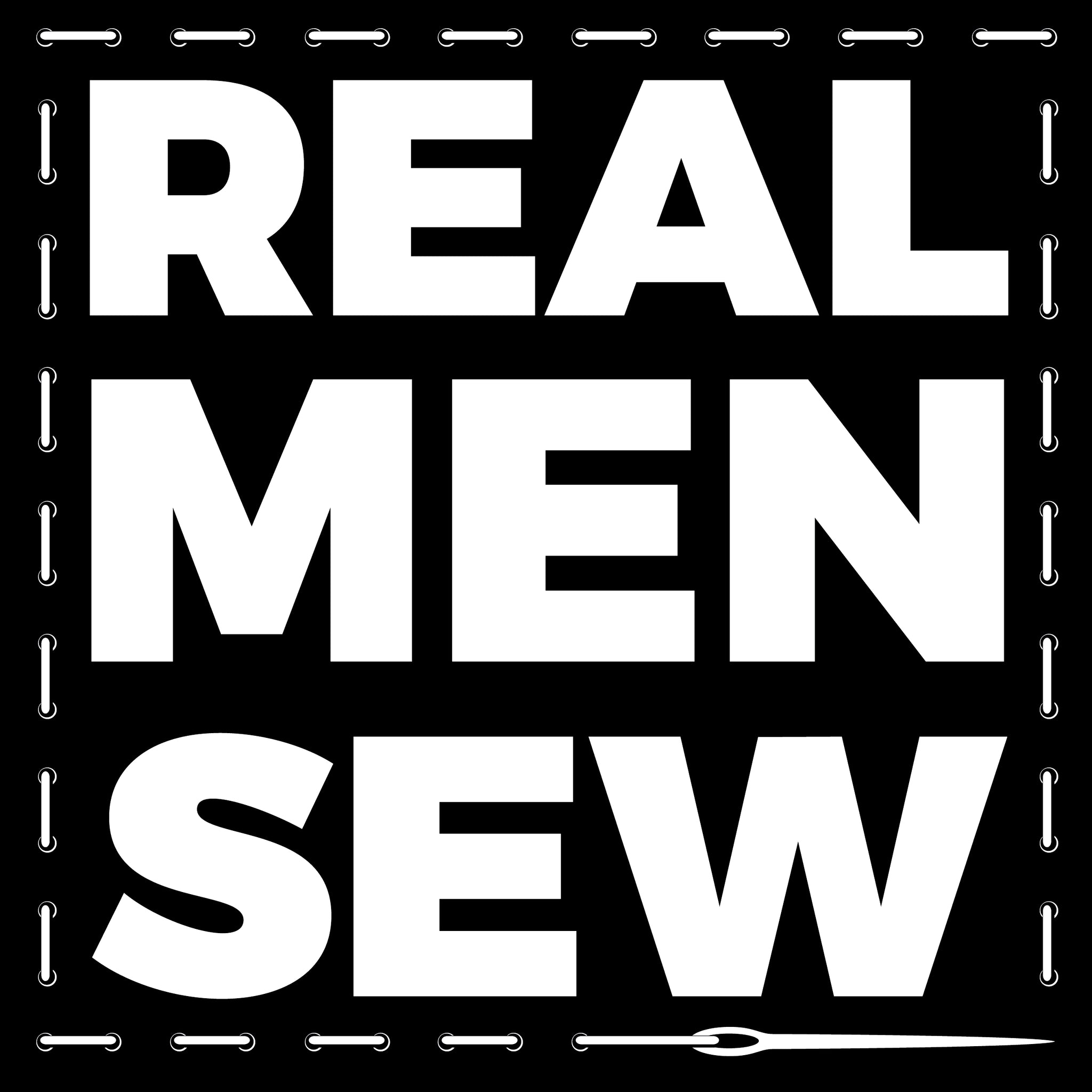 'Real Men Sew' Sticker