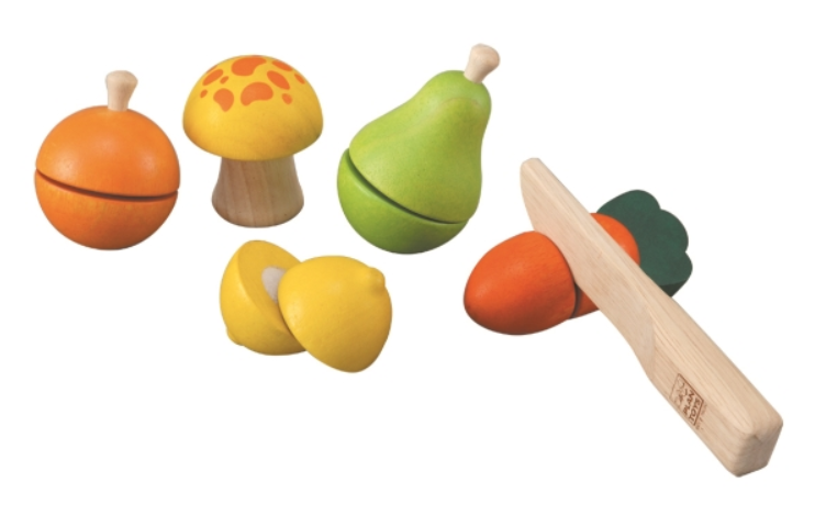 Plan Toys - Ekologiskt Frukt och grönsaksset, Fruit and vegetable play set