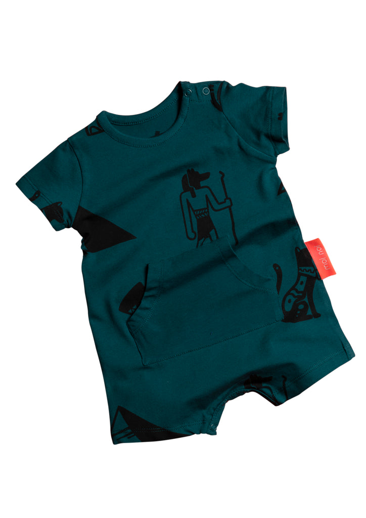 Kangaroo Pocket Shorts Jumpsuit