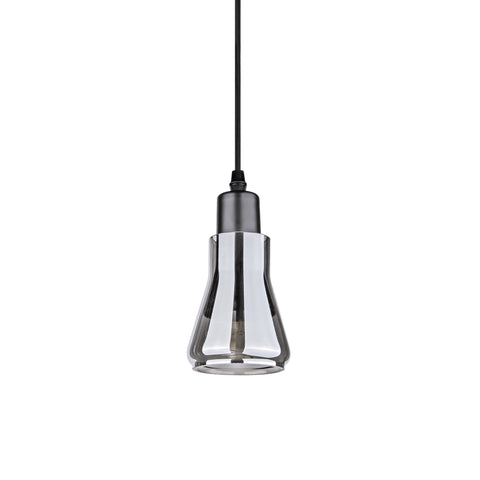 Modern Smokey Grey Glass Pendant Lamp - Type D - The Lighting Club - Perth - Lighting