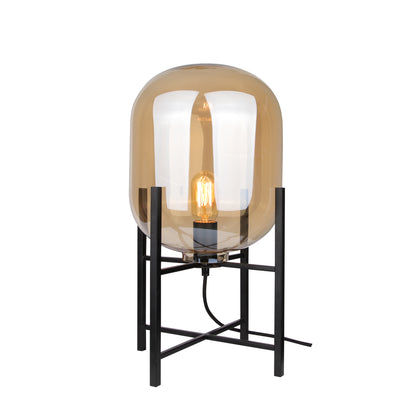 Oda Table Lamp with Amber Glass-Replica - The Lighting Club - Perth - Lighting